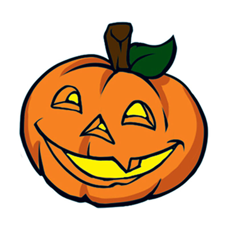 Jack-O-Lantern Temporary Tattoo image number null