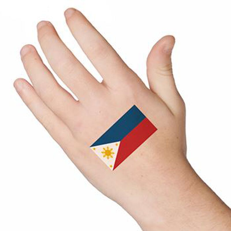 Flag of the Philippines Temporary Tattoo image number null