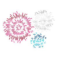 Exploding Fireworks Temporary Tattoo (Small)