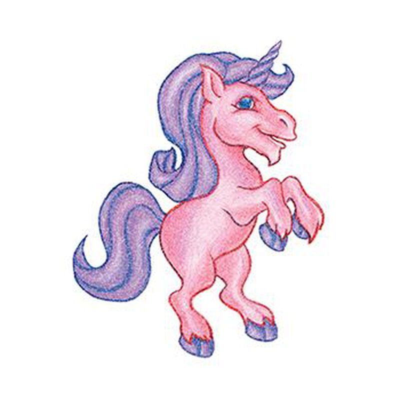Glitter Pink and Purple Unicorn image number null