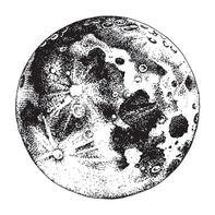 Surface of the Moon Temporary Tattoo