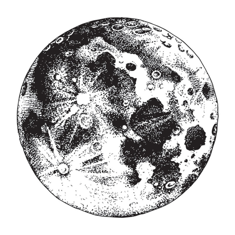 SURFACE OF THE MOON TEMPORARY TATTOO image number null