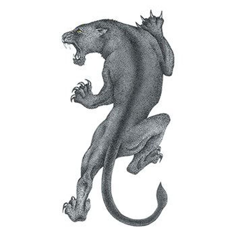 Black Panther Temporary Tattoo image number null