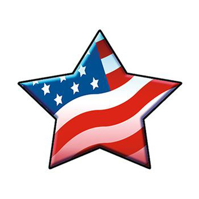 Patriotic Star Temporary Tattoo image number null