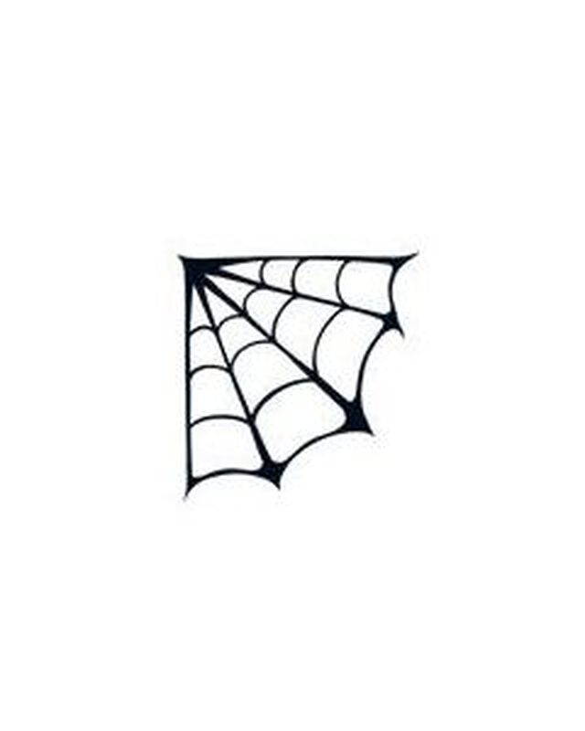 Glow In The Dark Corner Spider Web Temporary Tattoo image number null