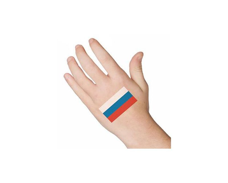 Russia Flag Temporary Tattoo image number null