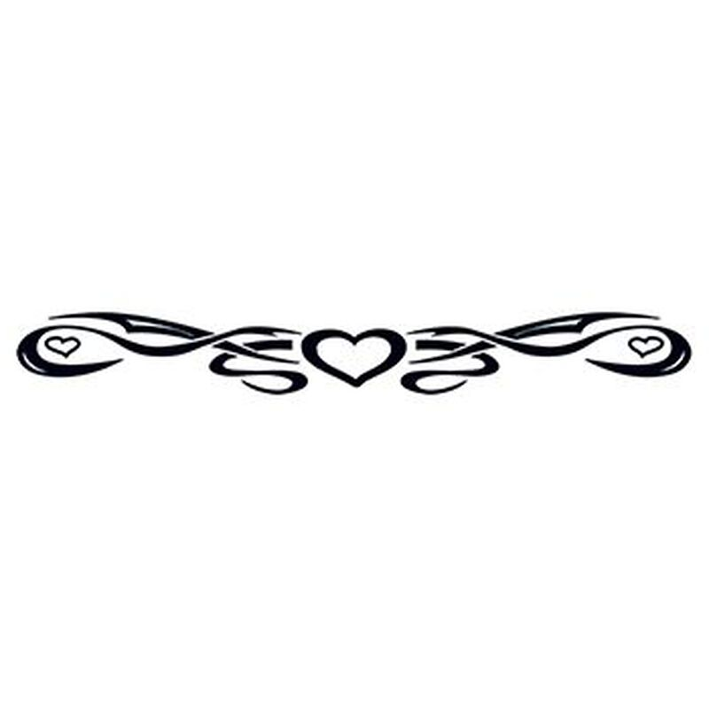 Tribal Heart Band Temporary Tattoo image number null