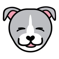 Pitbull Face Temporary Tattoo
