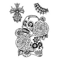 Calaveras Sugar Skull Temporary Tattoo Set