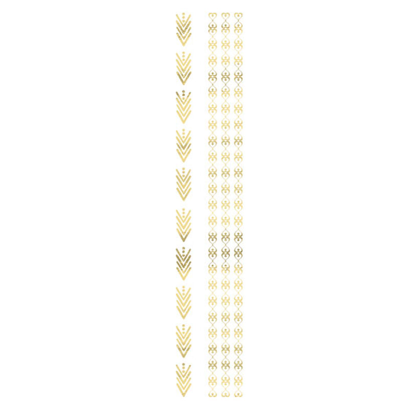 Metallic Gold Bands Temporary Tattoo image number null