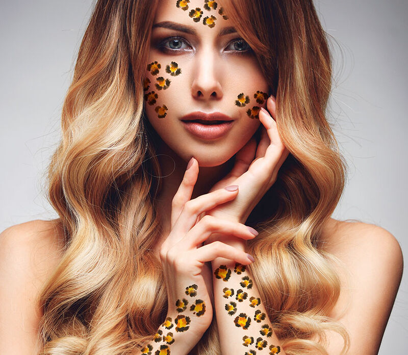 Leopard Animal Print Temporary Tattoo image number null