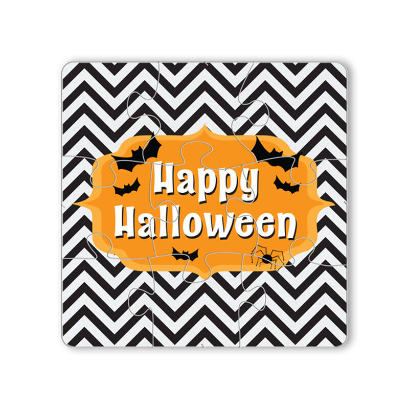 Happy Halloween Puzzle Coaster Gift Box image number null