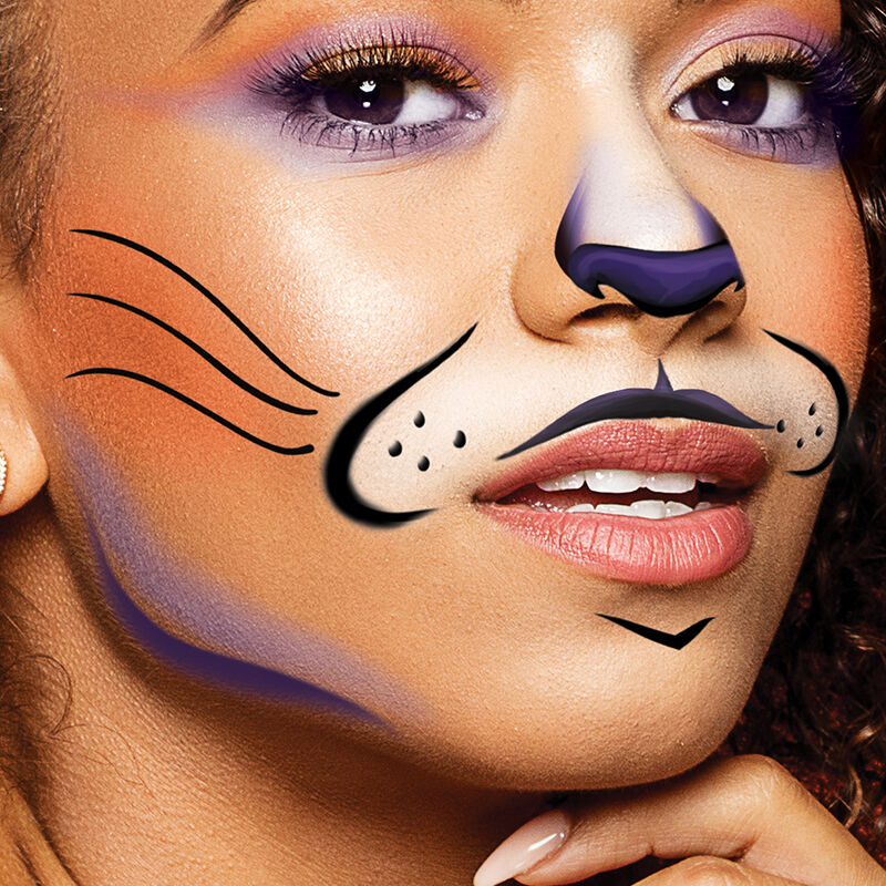 Animal Cat Face Mouth Costume Tattoo image number null