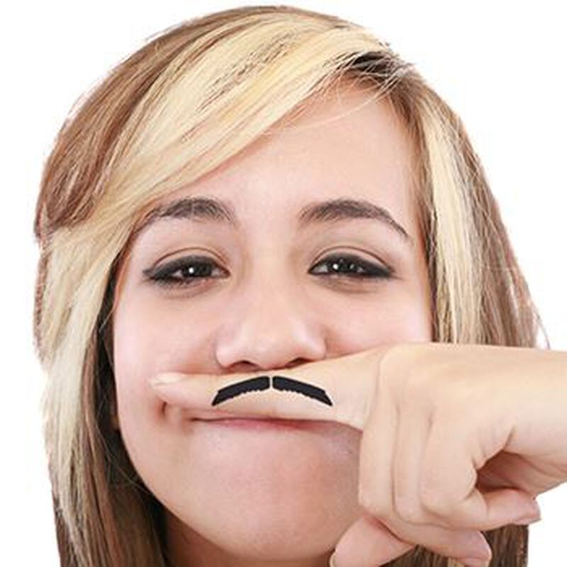 Fingerstaches: El Guapo Temporary Tattoo Set image number null