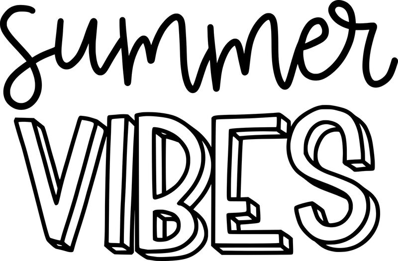 Summer Vibes Temporary Tattoo image number null