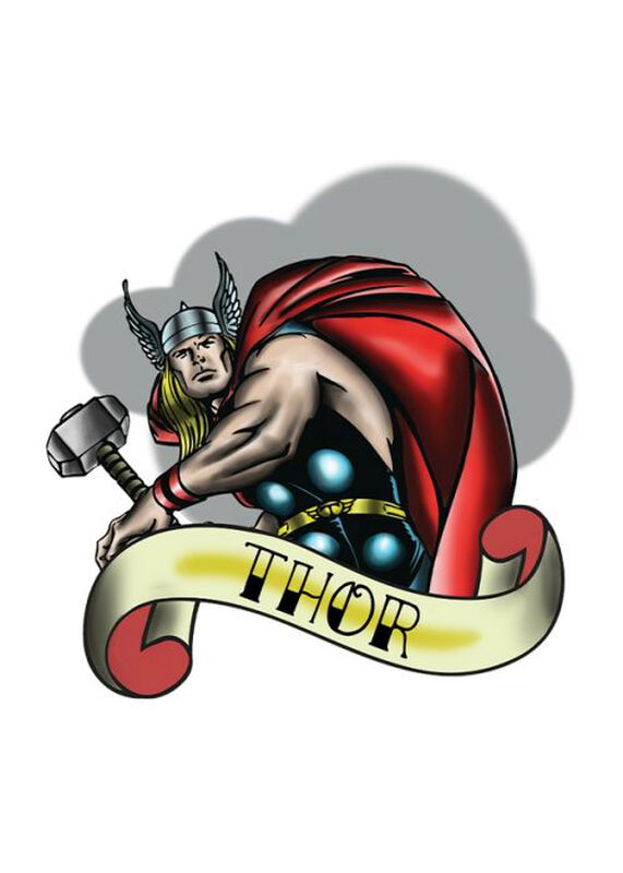 Marvel Ink Thor Temporary Tattoo image number null