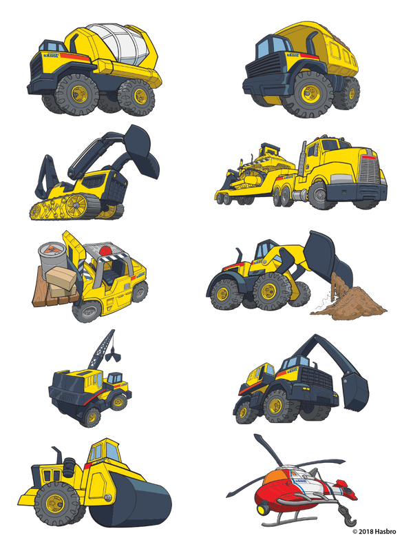 Tonka Truck Sheet Temporary Tattoos image number null