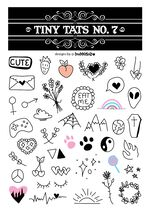 Tiny Tats No. 7 Temporary Tattoos