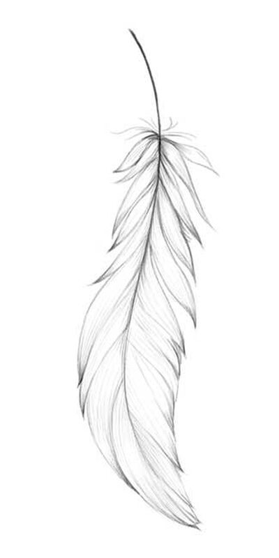 Simple Feather Temporary Tattoo image number null