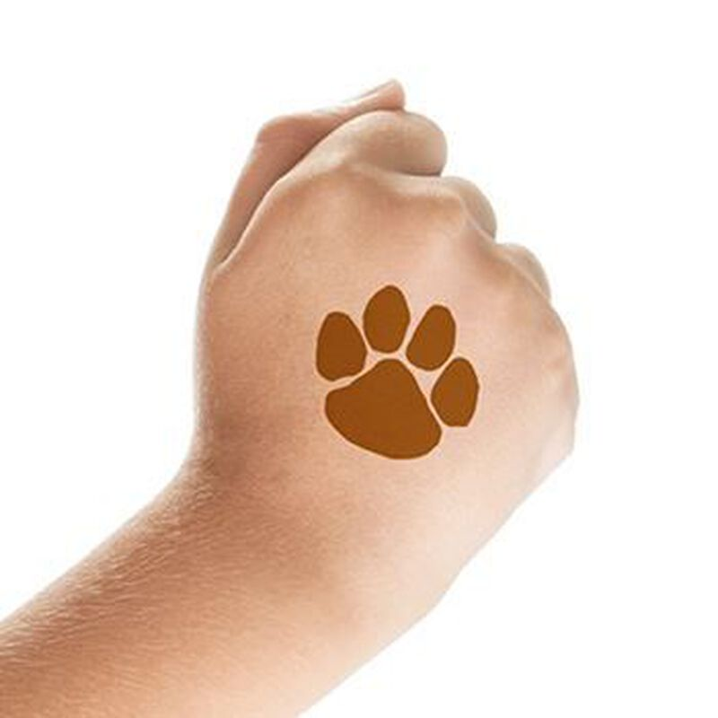 Brown Paw Print Temporary Tattoo image number null