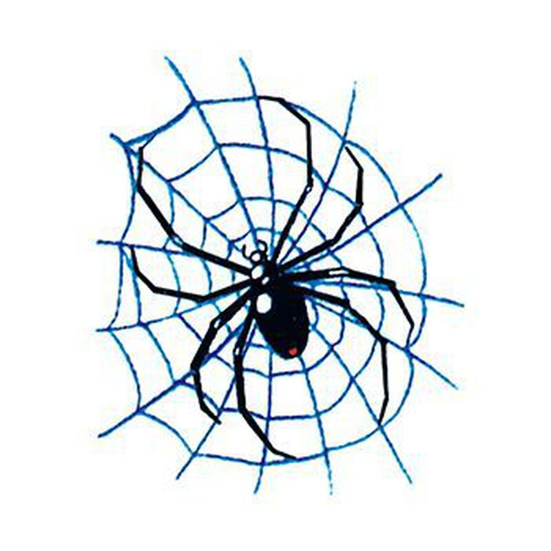 Spider on Web Temporary Tattoo image number null