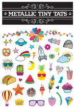 Metallic Tiny Tats Temporary Tattoos