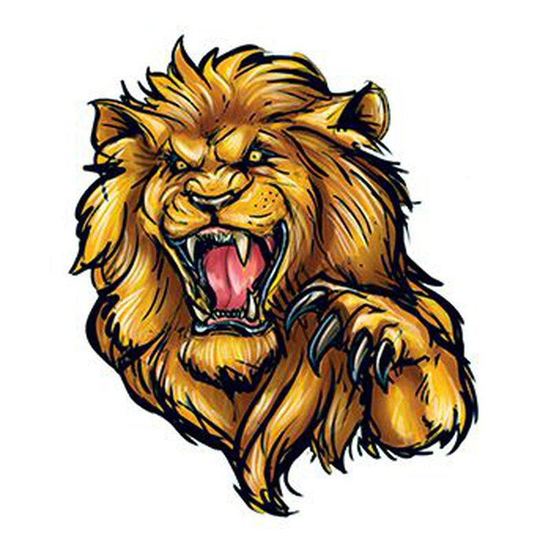 Roaring Lion Temporary Tattoo image number null
