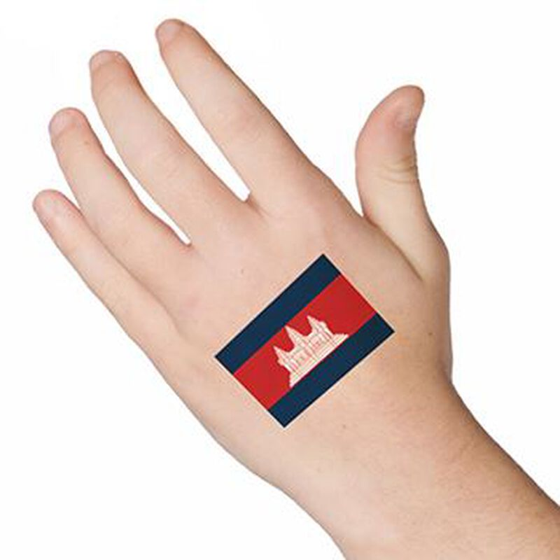 Cambodia Flag Temporary Tattoo image number null