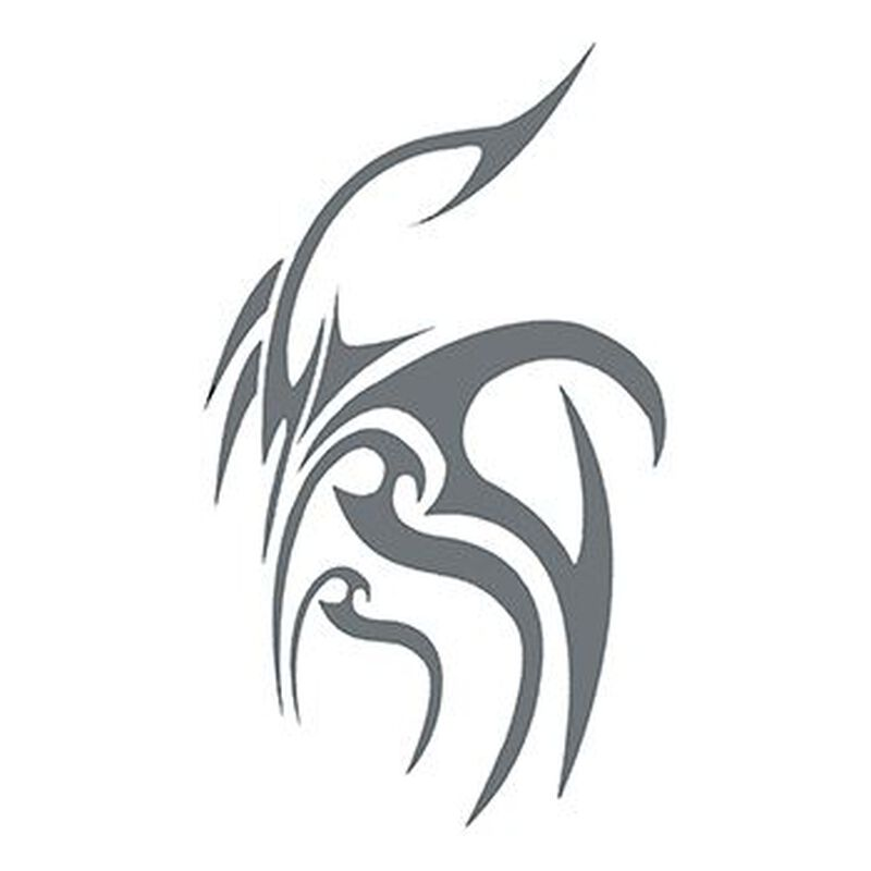 Tribal Gray Design Temporary Tattoo image number null