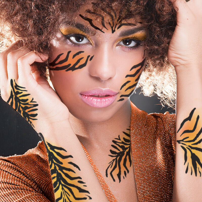 Animal Tiger Striped Costume Tattoo image number null