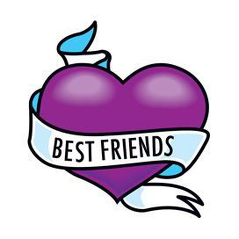 Best Friends Heart Temporary Tattoo image number null