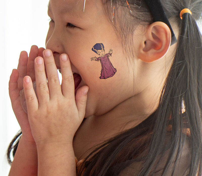 Kids Morticia in Trance Temporary Tattoo image number null