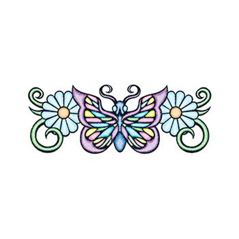 Glitter Pastel Butterfly Temporary Tattoos image number null