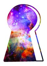Galaxy Keyhole Temporary Tattoo