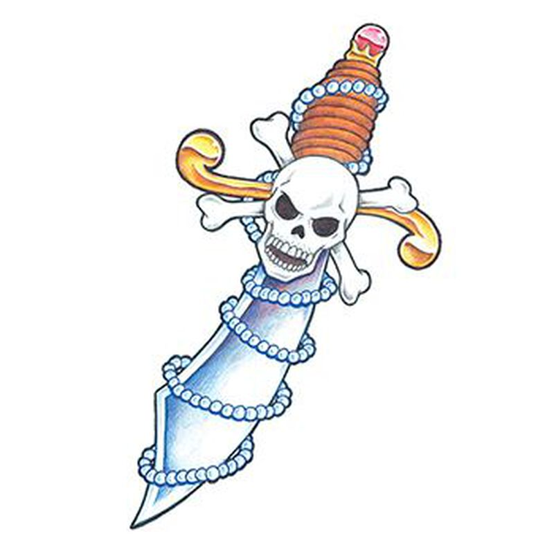 Traditional Pirate Sword Temporary Tattoo image number null