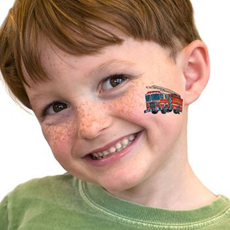 Fire Engine Temporary Tattoo image number null