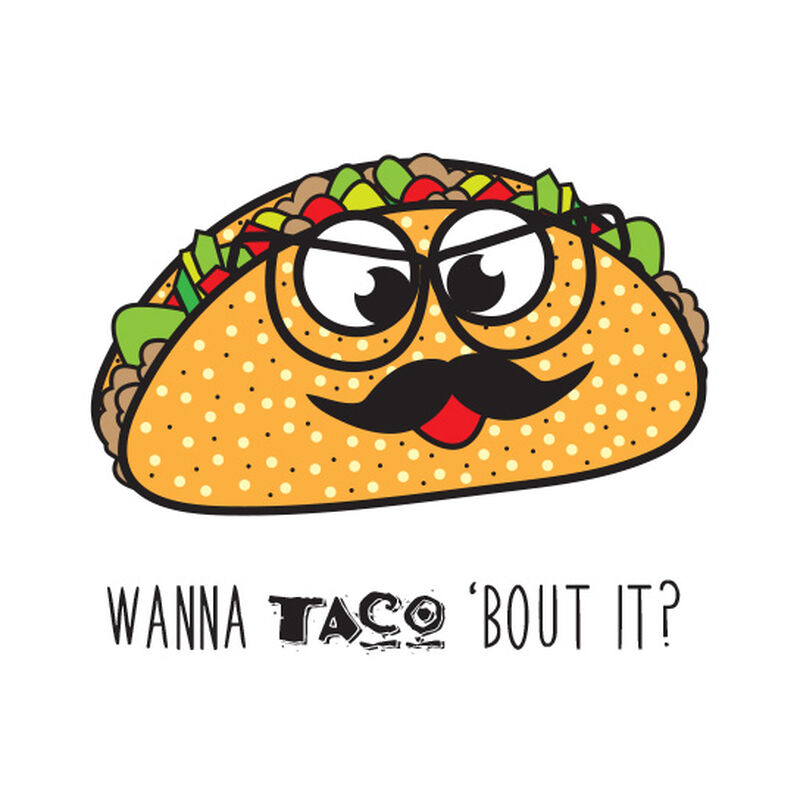 Wanna Taco 'Bout It Temporary Tattoo image number null