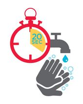 Wash Your Hands for 20 Seconds Temporary Tattoo