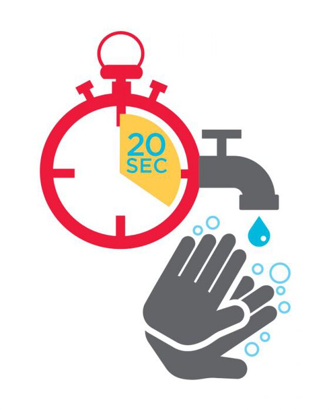 Wash Your Hands for 20 Seconds Temporary Tattoo image number null