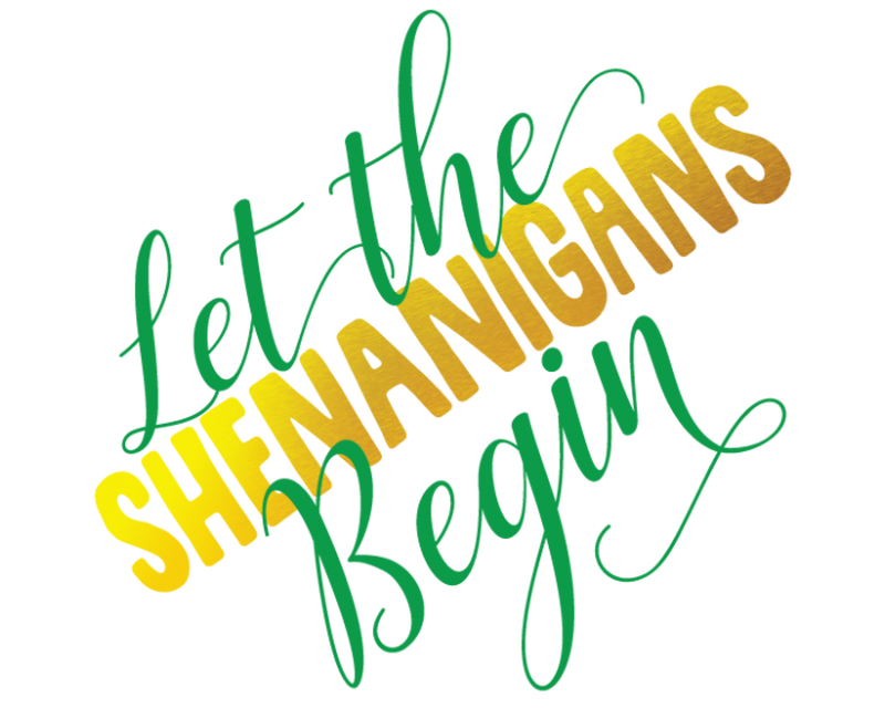 Metallic Let the Shenanigans Begin Temporary Tattoo image number null