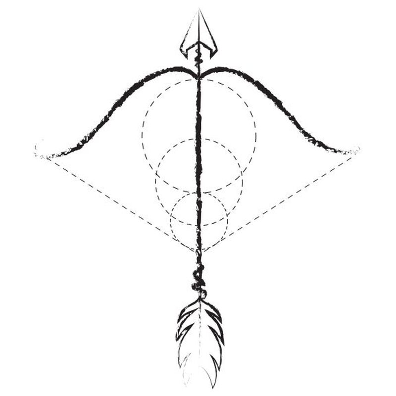 Bow & Arrow Temporary Tattoo image number null