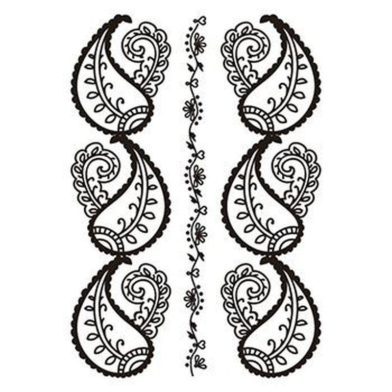 Henna: Black Temporary Tattoo image number null