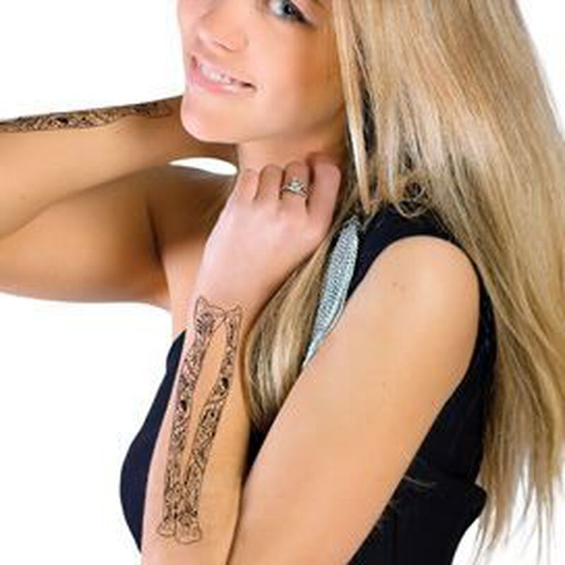 Day of the Dead Skeleton Arm Temporary Tattoo image number null