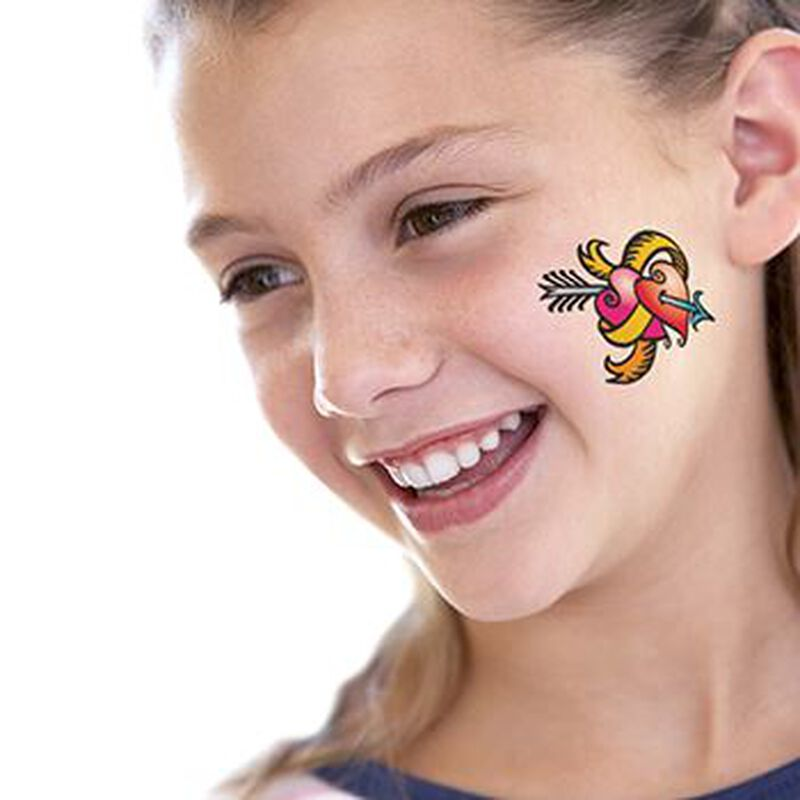Hearts and Arrow Temporary Tattoo image number null