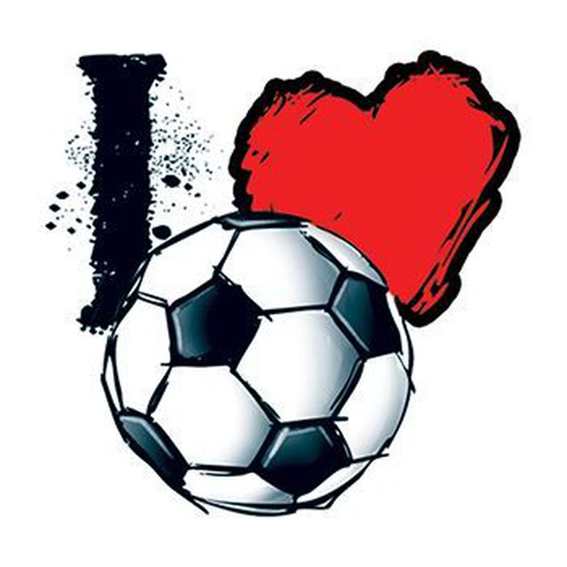 "Soccer Lovers ""I Heart Soccer"" Temporary Tattoo image number null"
