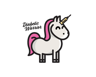Type 1 Diabetes Unicorn Temporary Tattoo