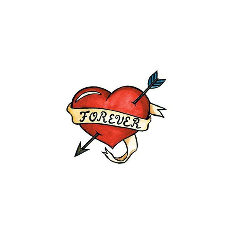 Forever Heart with Arrow Temporary Tattoo image number null