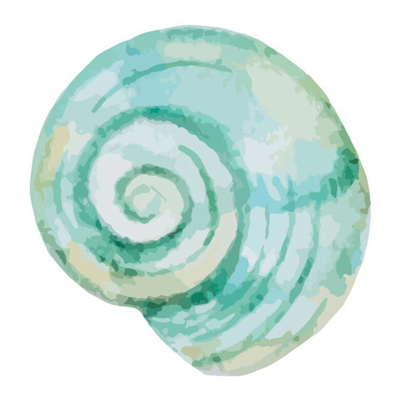 Blue Snail Shell Temporary Tattoo image number null