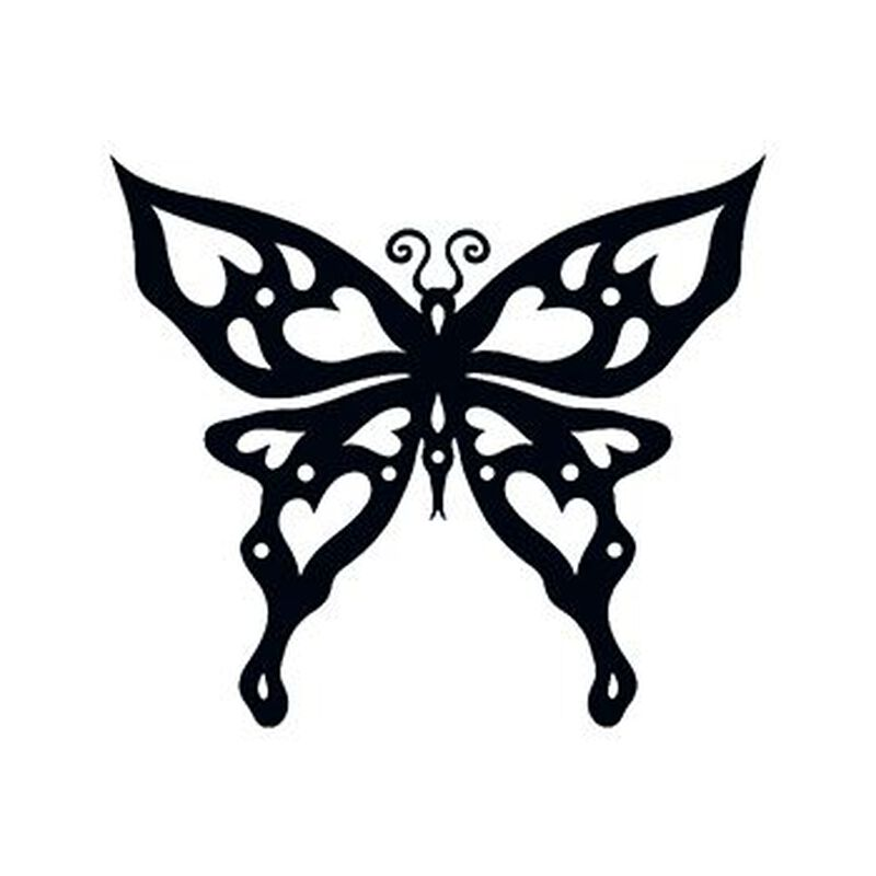 Heart Tribal Butterfly Temporary Tattoo image number null