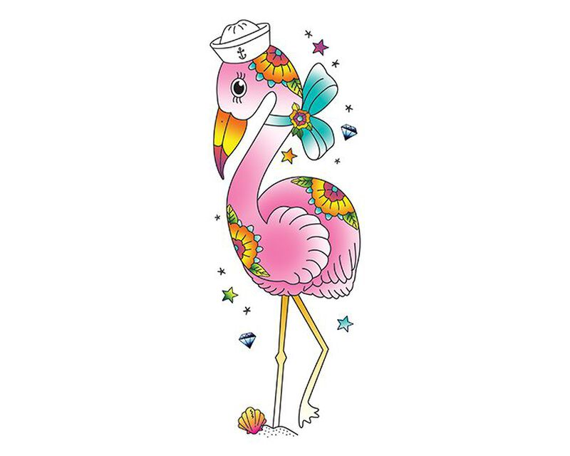 Sailor Flamingo Temporary Tattoo image number null
